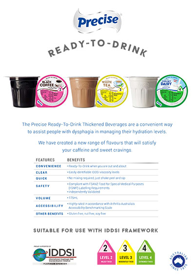 Precise Ready-to-Drink Hot Beverage Flyer